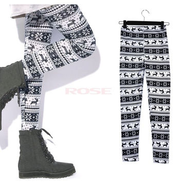 New Sexy Fashionable Comfortable Women Snowflakes Leggings Tights Pants 6139 Trousers One size = 1745656260