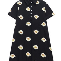 T-shirt Dress with Floral Print