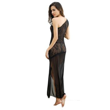 Female Temptation Transparent Women's Summer Lace Nightgown Underwear
