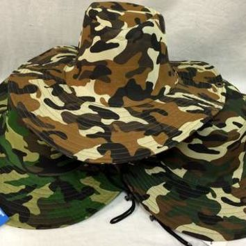 camo boonie / fishing hat - one size fits all Case of 48