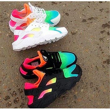 NIKE Huarache Contrast Colorful Fashion Men Running Sport Casual Shoes Sneakers F-AA-SDDSL-KHZHXMKH