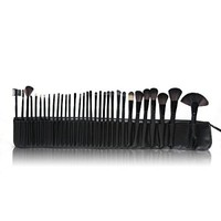 Lychee® Beautiful 32pcs Cosmetic Makeup Makeup Brush Set with Free Bag (Black)