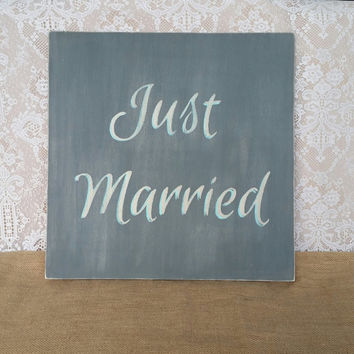 Just Married Sign, Wedding Sign, Just Married Wedding Photography Prop, Just Married Photo Prop, Custom Wedding Signs, Country Wedding