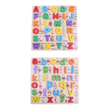 Puzzle English Educational Toy Alphabet Letters Educational Foam Mat for Children Wooden magnet Educational Toys