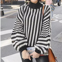 SIMPLE - Cardigan Stripes b5150