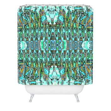 Ingrid Padilla Charisma Blue Shower Curtain