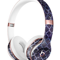 Deep Purple Watercolor Quatrefoil Full-Body Skin Kit for the Beats by Dre Solo 3 Wireless Headphones