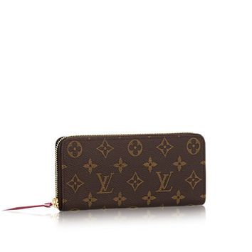 Supreme&LV Monogram Canvas Fuchsia Clemence Wallet,Women's Handbags, M60742