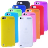 ECO-FUSED® 11 pieces Soft Silicon Flex Cover Case Skin Bundle for Apple iPod Touch 5 / 10 Silicon Cover Cases (Black, White, Red, Orange, Yellow, Green, Blue, Light Blue, Purple, Pink) - ECO-FUSED® Microfiber Cleaning Cloth included