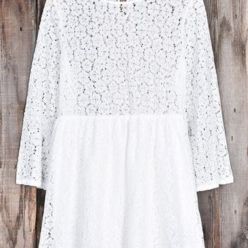Cupshe White Jade Lace Dress