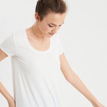 AE Soft & Sexy Scoop Neck T-Shirt, Natural White