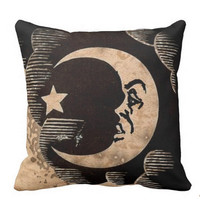 Ouija moon throw pillow
