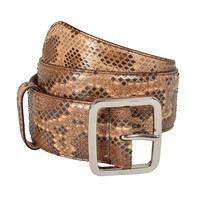 Gucci Women's Python Skin Leather Belt US 28 IT 70