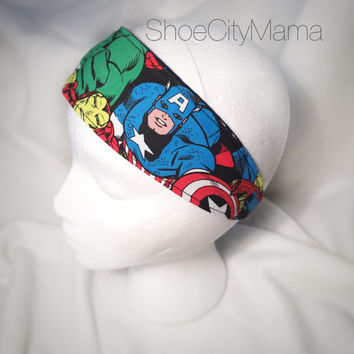Marvel Comics Headband Spiderman Ironman Captain America Thor Hulk Superhero Avengers Hair Accessories Doll Infant Toddler Child Teen Adult