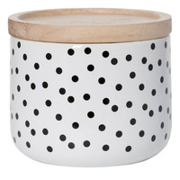General Eclectic canister <br/> small with black spots