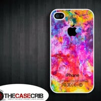Iphone case - Colorful Apple , Iphone 4 case , Iphone 4s case