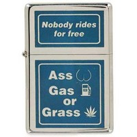 Ass, Gas, Grass Refillable Lighter | OldGlory.com
