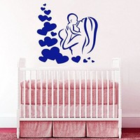 Wall Decals Mother with Lovely Child Decal Vinyl Sticker Mothercare Nursery Bedroom Interior Window Decals Art Murals