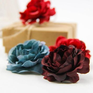 Artificial Rose Flowers Head Home Wedding Party Decoration