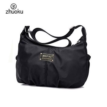 Women Crossbody Hobos Bag Ladies Nylon Handbag Travel Casual Bag Leisure Fashion Bags Bolsos Mujer Brand Bag Purse L200