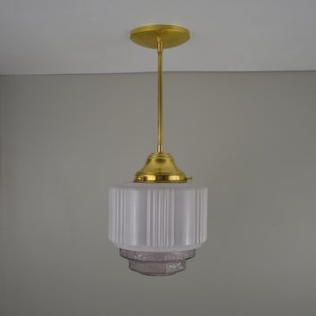 Antique Purple Skyscraper Pendant Light