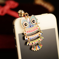 Colorful Owl Pendant Plugy for iPhone