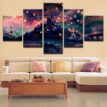 Prints Modular Painting Decor Fashion Harry Potter Hogwarts Modern Wall Art Canvas Picture Cheap Framework Poster