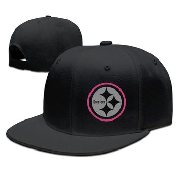 Pittsburgh Steelers Breast Cancer Awareness Team Travel Performance Funny Unisex Adult Womens Flat Brim Hats Mens Hip-hop Cap
