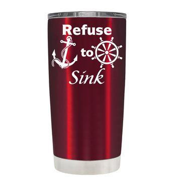 TREK Refuse to Sink on Translucent Red 20 oz Tumbler Cup