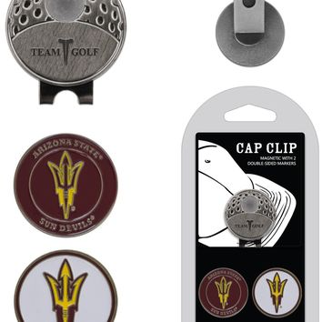 NCAA Arizona State Sun Devils Hat Clip & 2 Magnetic Golf Ball Markers
