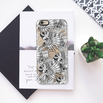 fish mirage tropical black white transparent iPhone 6s case by Sharon Turner | Casetify