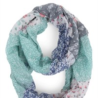 Floral Patchwork Floral Infinity Scarf