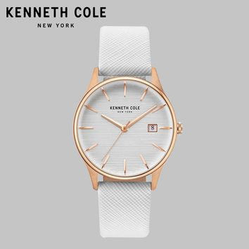 Kenneth Cole Original Quartz Women Watches KC15109001 Nude Leather Waterproof Simple Luxury Brand Ladies Watches