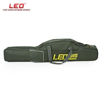 LEO Portable 100cm/150cm Fishing Bags Folding Fishing Rod Carrier Canvas Fishing Pole Tools Storage Bag Case Fishing Gear Tackle