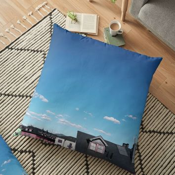 'Candy rooftops' Floor Pillow by TheOtherErre