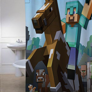 Minecraft Mine Craft Game special shower curtains