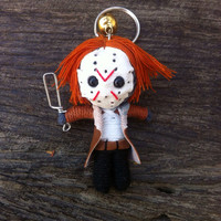 killer Jason Friday 13 movie Voodoo String Doll Funny Keyring Keychain Key Ring Key Chain Bag Car