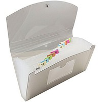 JAM Paper® 13 Pocket Expanding File, Check Size, 5 x 10.5, Grey, Sold Individually (221618981) | Staples