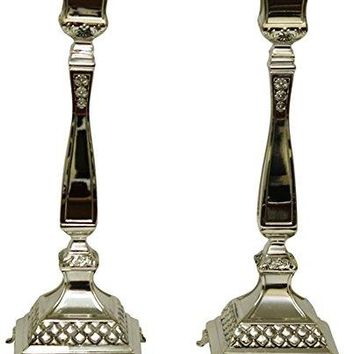 5th Avenue Collection Candle Sticks Silver Plated  14 inch H