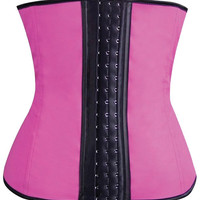 Gym Work Out Waist Trainers Hot Pink Md