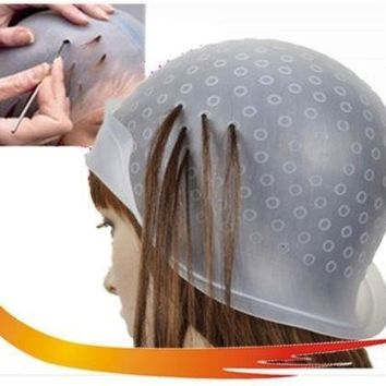 Professional Reusable Hair Colouring Highlighting Dye Cap Frosting Tipping = 5658570945