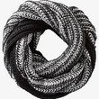 CHUNKY MARLED KNIT INFINITY SCARF from EXPRESS