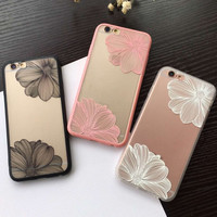 Vintage Retro Flower iPhone 5s 5se 6 6S Plus Case Top Quality Cover + Free Gift Cute Elephant Ring