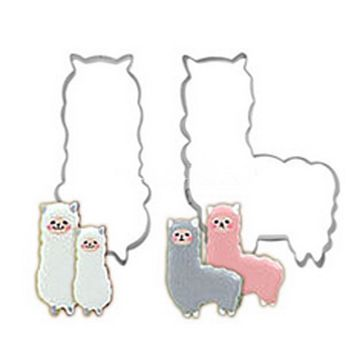 Alpaca Shaped Metal Cookie Cutters Stainless Steel Tools Cake Biscuit Kitchen Mold Fondant Party Wedding Decor Sugar Mould