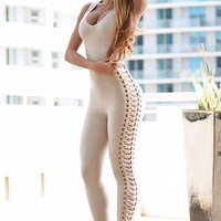 Bandage Side Caged Jumpsuit
