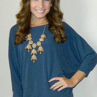 Melanie Top (Blue)   Girly Girl Boutique