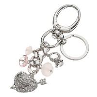 Juicy Couture Bead, Heart & Arrow, & Ring Key Chain