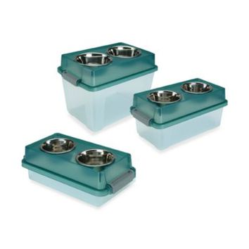 IRIS USA Elevated Small Dog Feeder with Storage
