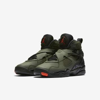 The Air Jordan Retro 8 (3.5y-7y) Big Kids' Shoe.