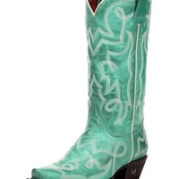 Women's Santa Fe Turquoise Cowgirl Boot - Aged Turquoise